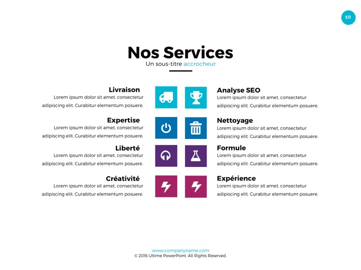 Nos services powerpoint