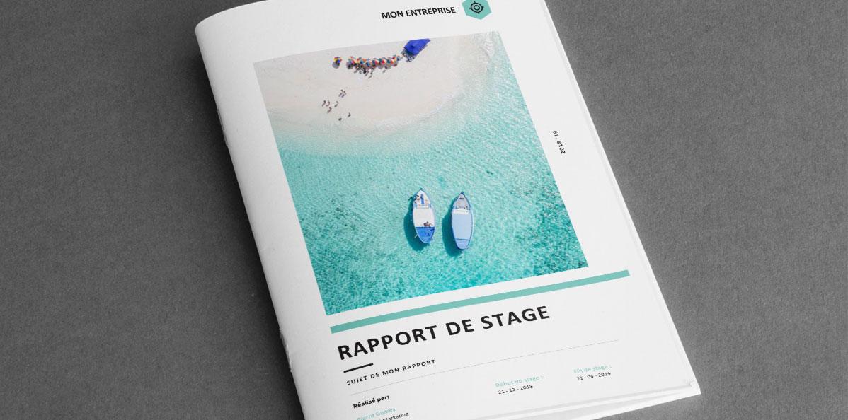 Sunny Modèle De Rapport De Stage Word