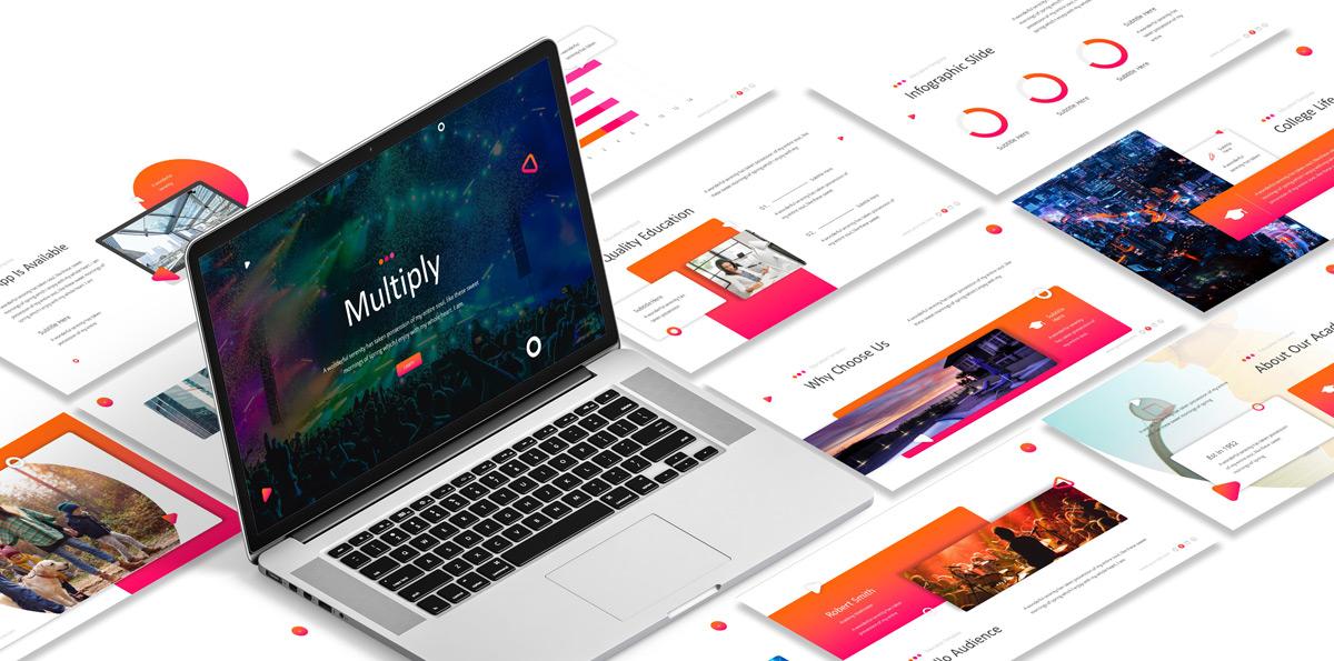 Template Powerpoint Multiply à télécharger